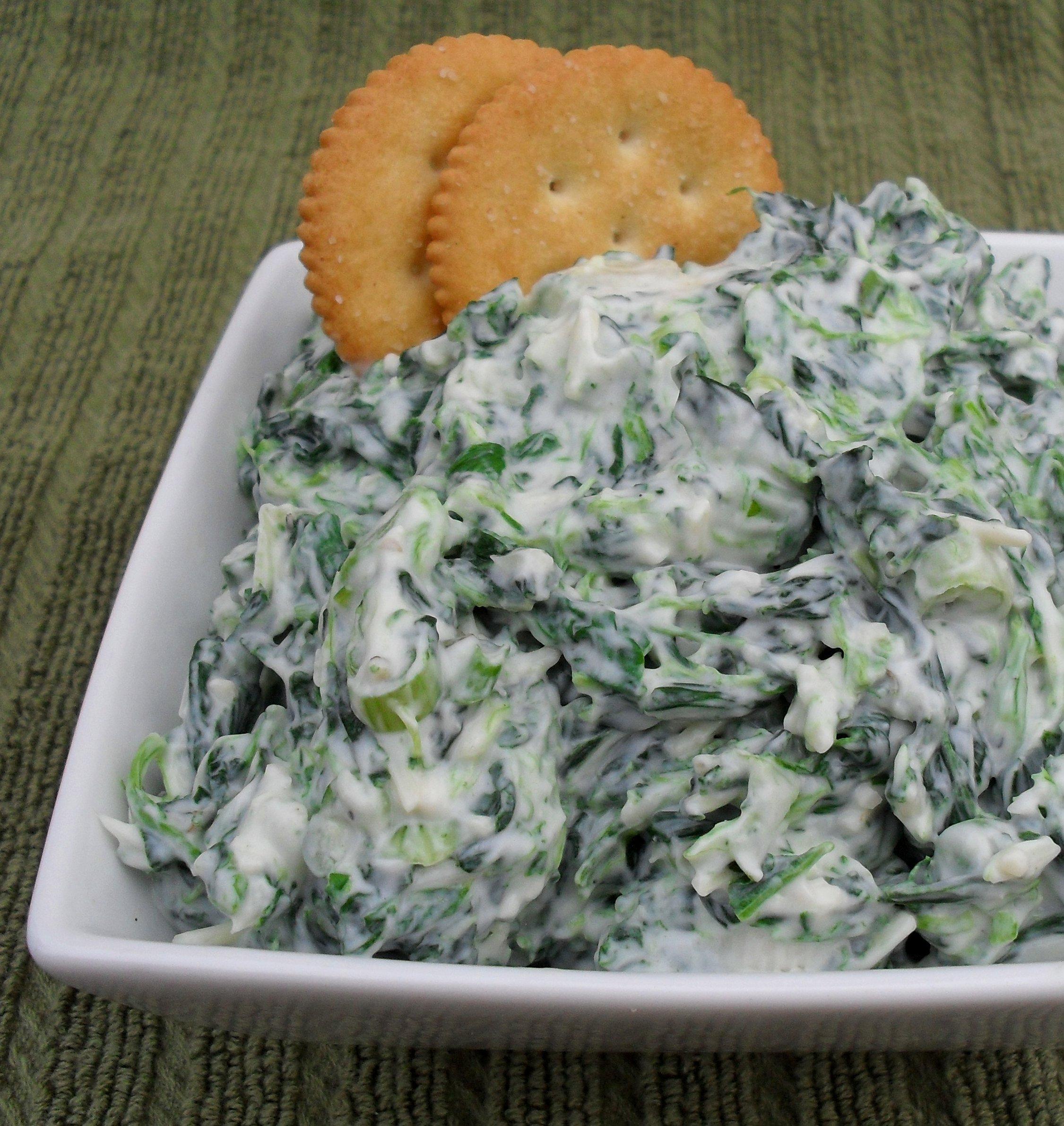 Creamy Spinach Dip Savage Taste