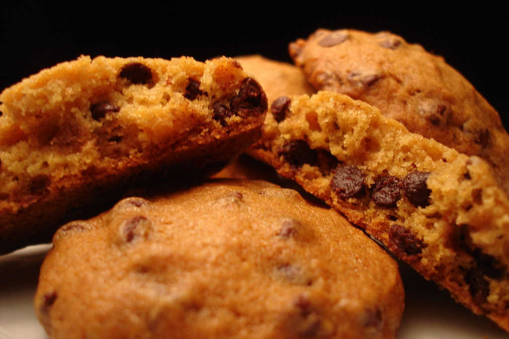 Chocolate Chip Pumpkin Spice Cookies   savage taste