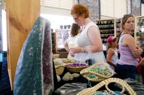 Amy shopping at City Market of Charleston